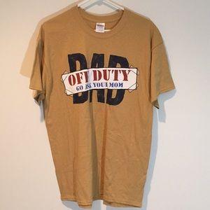 NWT mustard yellow dad t-shirt size Large